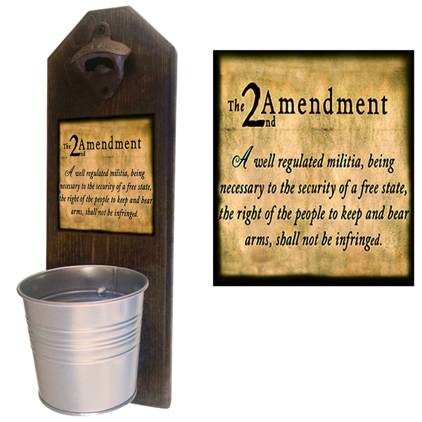 2nd Amendment Bottle Opener - These well-made, handcrafted old fashion bottle openers make the perfect gift for home brewers, local craft beer makers, mini bars, house warming or retirements, Groomsmen Gifts, or anyone who opens bottles! Just pop the tops and let them fall - Pike Creek Boutique