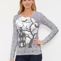 Trick or Treat (13336) ~ Thermal Long Sleeve Crew Shirt - Pike Creek Boutique