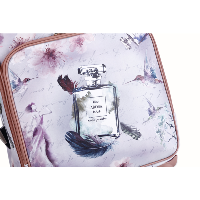 The Arosa Fragrance Luggage is a vintage Hollywood retro graphic design piece that calls for inspired, unique, powerful women who always strive to be different from the rest of the world - Pike Creek Boutique