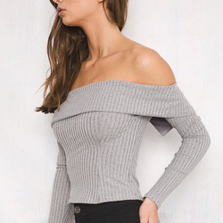 Off Shoulder Crop Top - Pike Creek Boutique