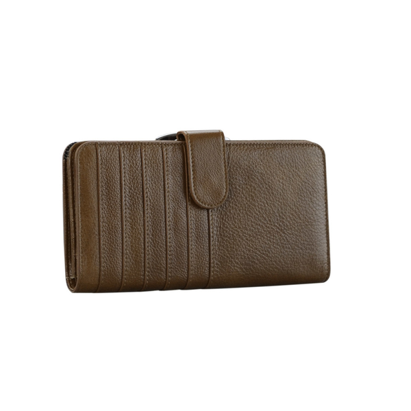 Lady's Genuine Tan Leather Wallet