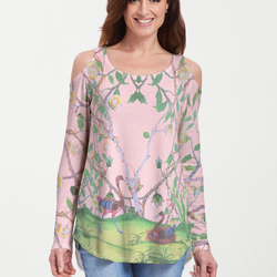 Wildwood Pink (19121) ~ Cold Shoulder Tunic