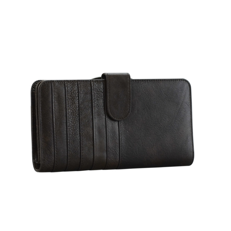 Lady's Genuine Brown Leather Wallet