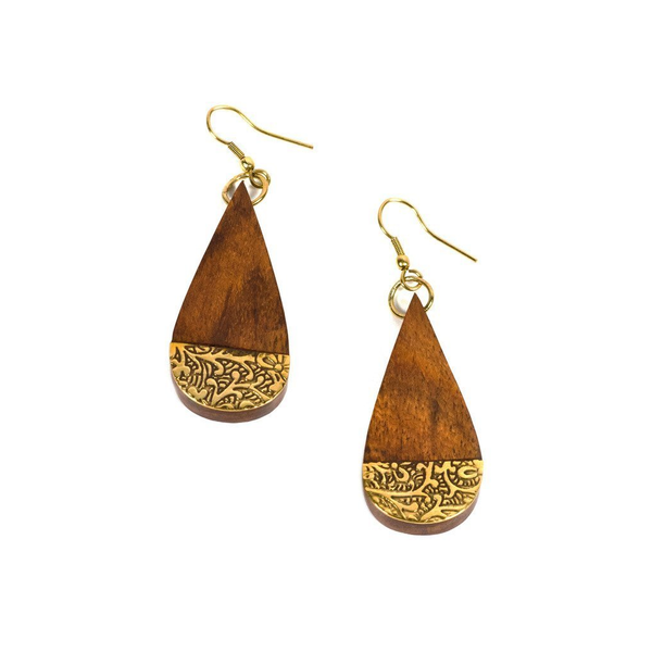 Earth and Fire Earrings - Teardrop Shape - Pike Creek Boutique