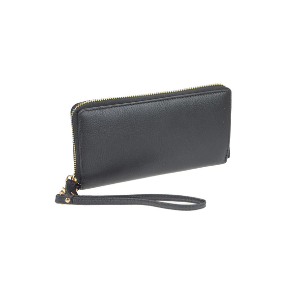 Lady's Luxurious Black Genuine Leather Clutch - Pike Creek Boutique