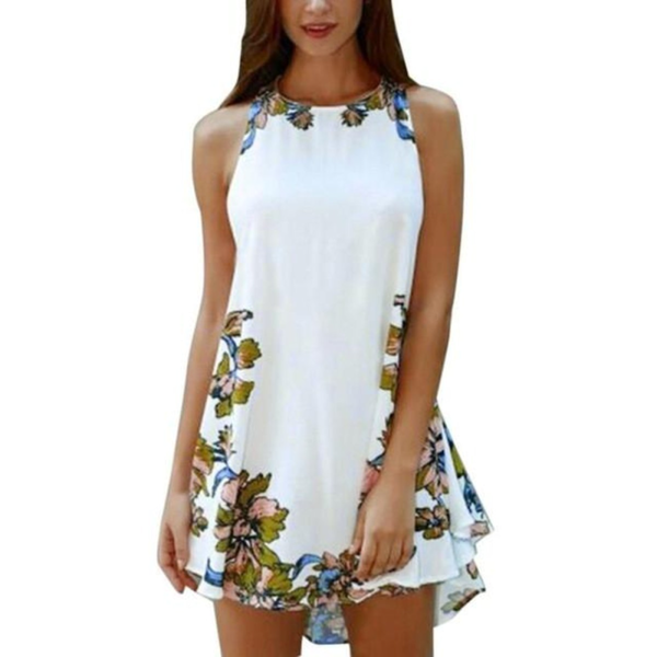 Summer Sleeveless One Piece Floral Mini Dress - Pike Creek Boutique