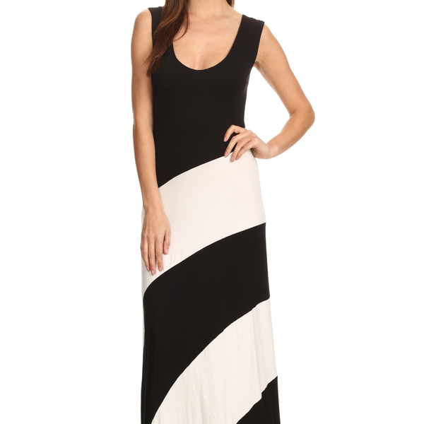Women's Striped Sleeveless Maxi Summer Dress - Pike Creek Boutique