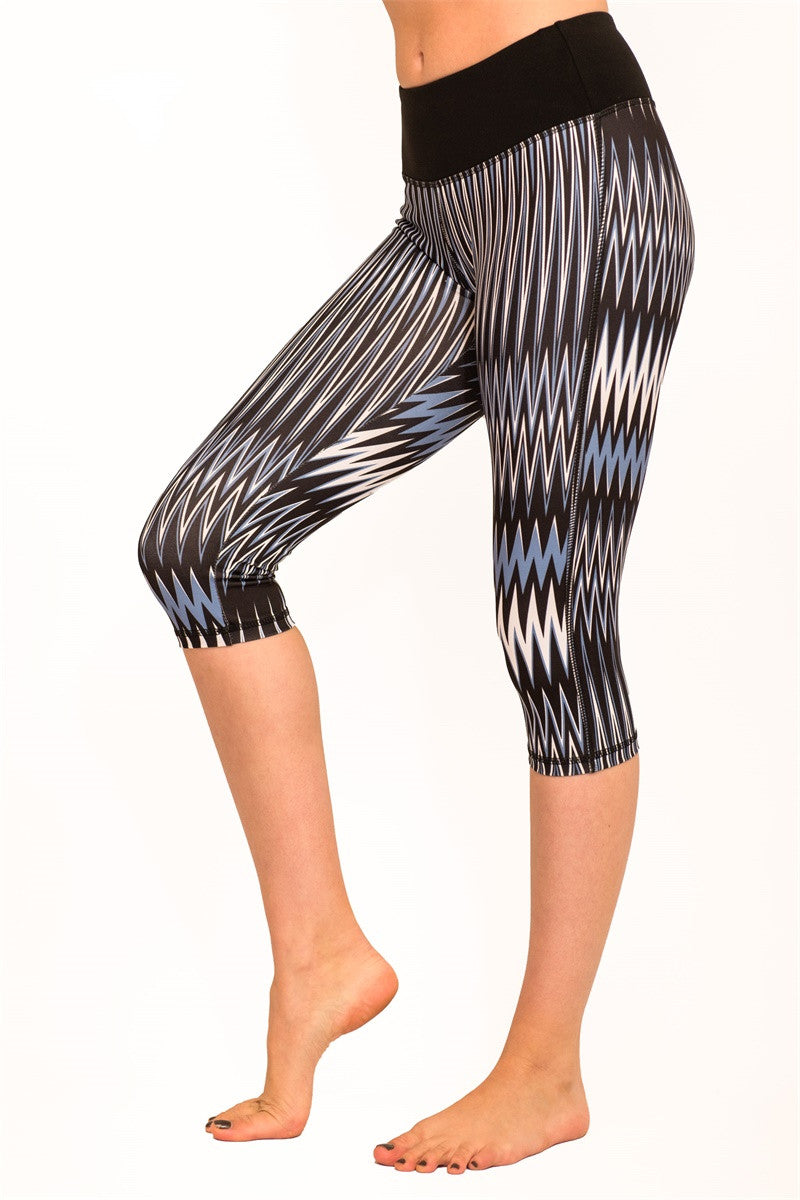 The Free Yoga Wave Printed Capri - Pike Creek Boutique