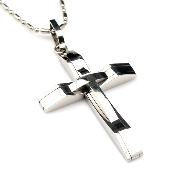 Men's Steel Cross Pendant - Pike Creek Boutique