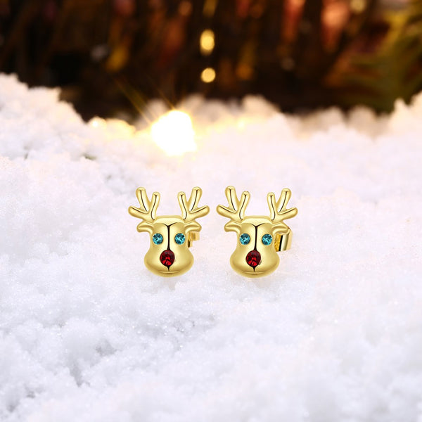 Swarovski Crystal Rudolph Stud Earrings - Pike Creek Boutique
