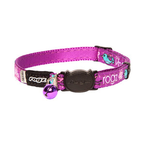 Rogz Catz FancyCat Collar - Purple Lovebirds