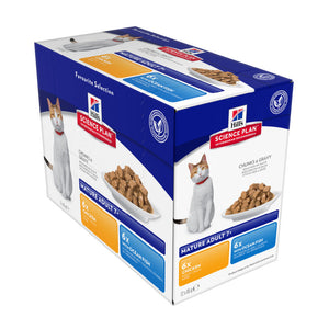 Science Plan Feline Mature Adult Chicken & Ocean Fish Pouch Multipack