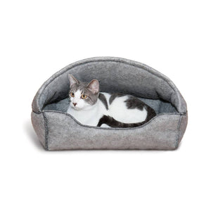 KH Amazin' Kitty Hooded Lounger - Grey