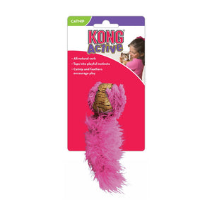 Kong Active Cat Cork Tail Toy - Pink