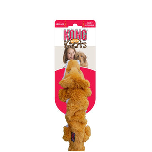 Kong Knots Plush Chew Toy - Orange Fox