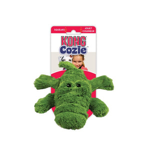 Kong Cozie Plush Dog Toy-Green Ali the Alligator