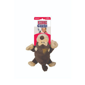 Kong Cozie Plush Dog Toy-  Brown Funky Monkey