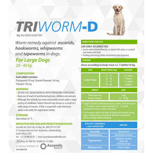 Triworm-D Dewormer for Dogs