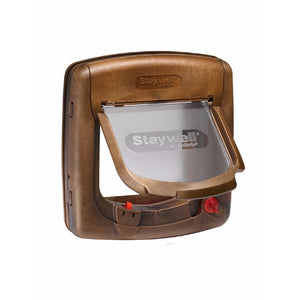 PetSafe Staywell Magnetic 4 Way Locking Cat Flap Woodgrain