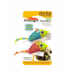 Petstages Catnip Chew Mice Pack