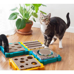 Petstages Puzzle Scratch Treat Pockets Scratcher With Post Example