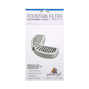 Pioneer Pet Replacement Filter for Ceramic Raindrop Fountains - 3 Pack