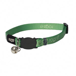 Rogz KiddyCat Collar - Lime Paws