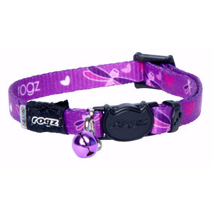 Rogz KiddyCat Collar - Purple Dragonfly