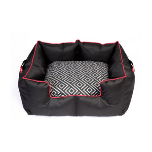 Wagworld K9 Castle- Black & Red Geo Replacement Inner cushion cover