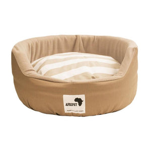 Afripet Round Dog Bed - Beige