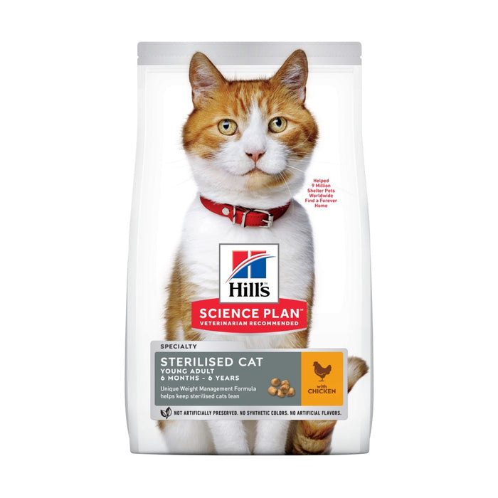 Hill's Science Plan Feline Young Adult Sterilised Cat Chicken Cat Food