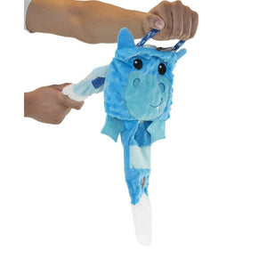 Charming Pets Blue Dragon & Blue Unicorn Reversible Tuggerz Tug