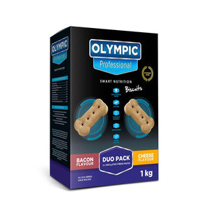 Olympic Professional Dog Biscuits Duo Pack Bacon & Cheese