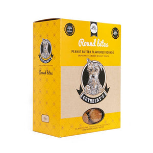 Cuthberts Peanut Butter Flavoured Round Dog Biscuits