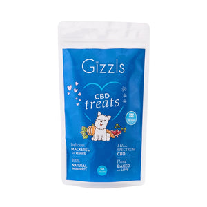 Gizzls Large Dog Fish CBD Treats