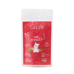 Gizzls Small Dog Ostrich CBD Treats