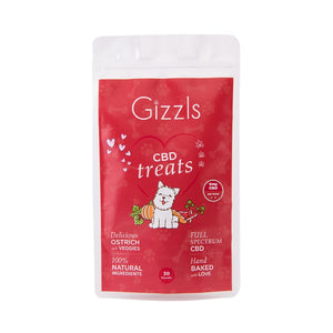 Gizzls Large Dog Ostrich CBD Treats
