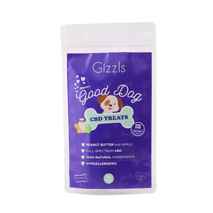 Gizzls Good Dog Peanut Butter and Apple CBD Treats