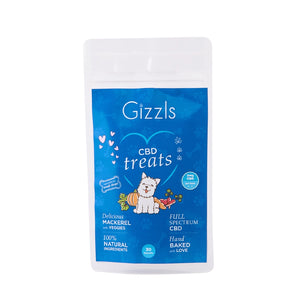 Gizzls Small Dog Fish CBD Treats