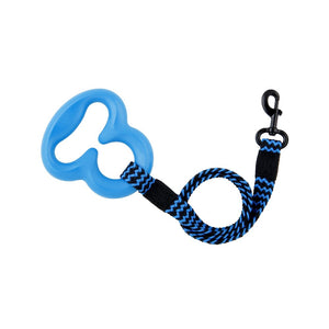 L'Chic Octobungee Elastic Leash Blue