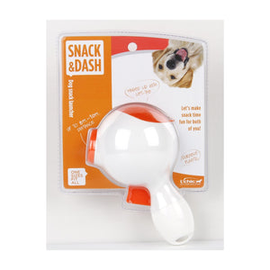L'Chic Snack and Dash Dog Treat Launcher White and Orange