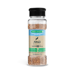 Nandi Freeze Dried Meat Sprinkles Karoo Ostrich Dog Treats