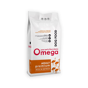 Omega Adult Premium Ostrich Dog Food