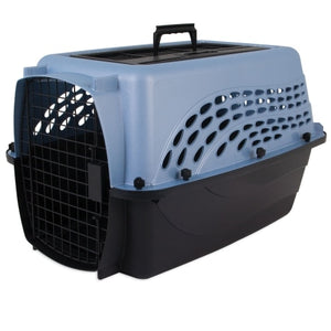 Petmate 2-Door Top Load Kennel Pearl Blue and Black
