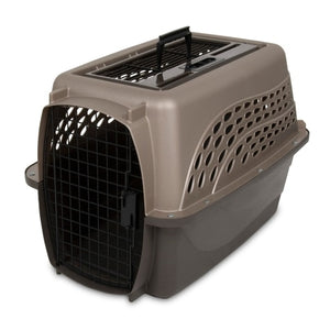 Petmate 2-Door Top Load Kennel Pearl Tan and Coffee