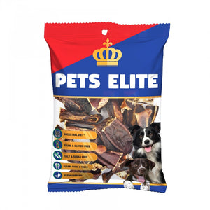 Pets Elite Pigs Ear Strips Dog Chew 100g