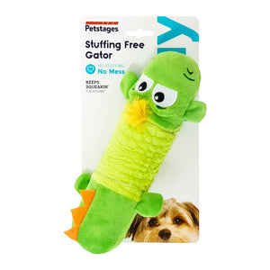 Petstages Stuffing Free Big Squeak Gator