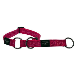 Rogz Alpinist Medium 16mm Matterhorn Web Half-Check Dog Collar Pink Rogz Design