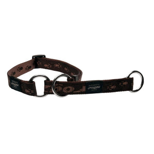 Rogz Alpinist Medium 16mm Matterhorn Web Half-Check Dog Collar Chocolate Rogz Design