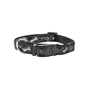 Rogz Fancy Dress Extra Large Armed Response Dog Collar Black Bone